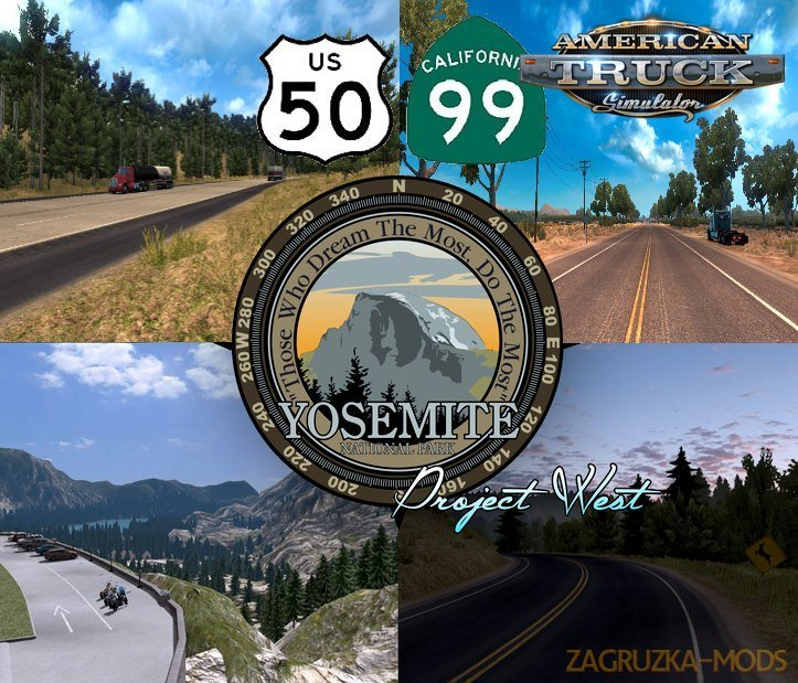 Project US Expansion v2.6 (US 50 & CA 99 Mod) (1.35.x) for ATS