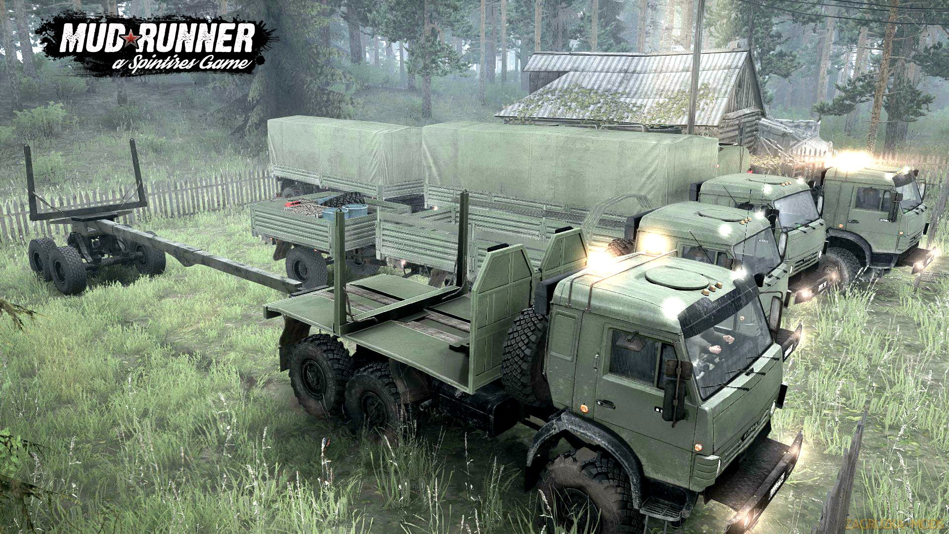 KamAZ Pack Trucks v1.0 (v07.11.17) for Spin Tires: MudRunner