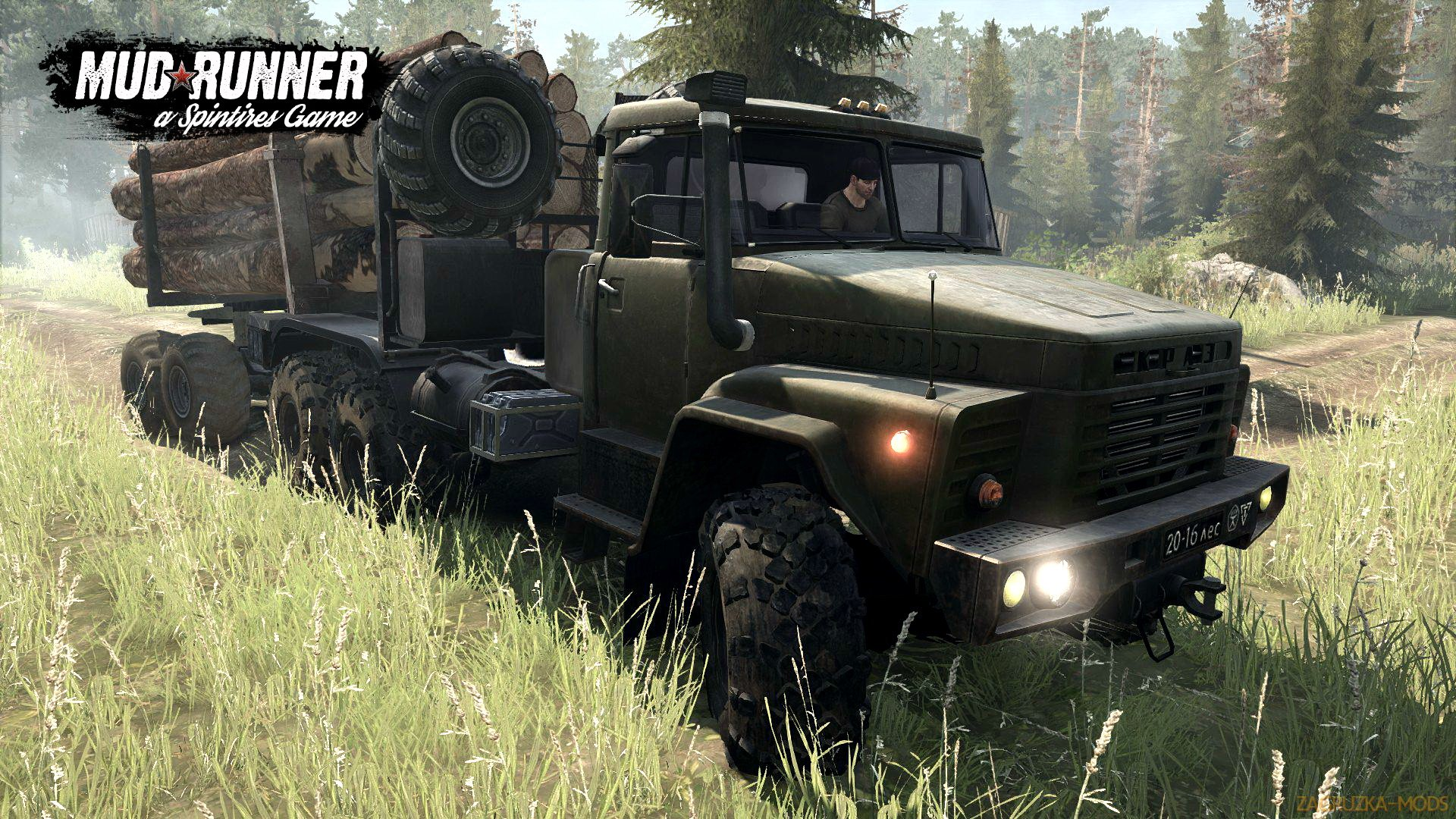 KrAZ-260 (M) v1.0 (v07.11.17) for Spin Tires: MudRunner