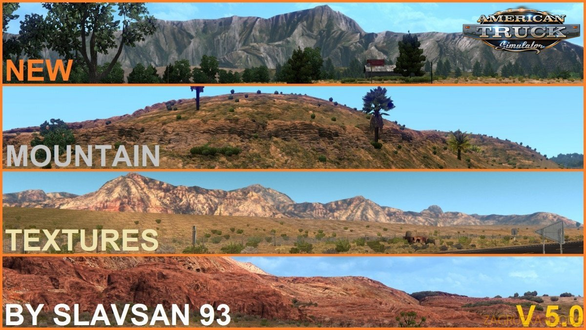 New Mountain Textures v7.7 (1.34.x) for ATS