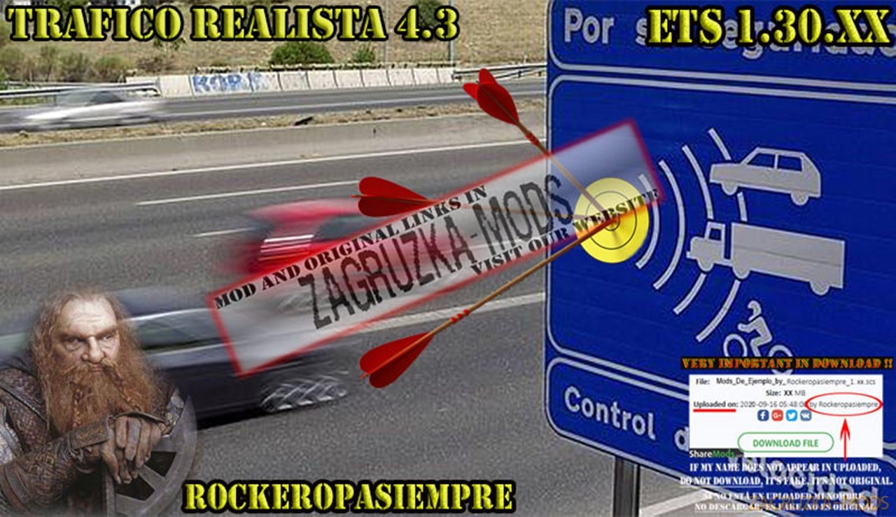 Realistic traffic 4.3 by Rockeropasiempre for V_1.30.XX