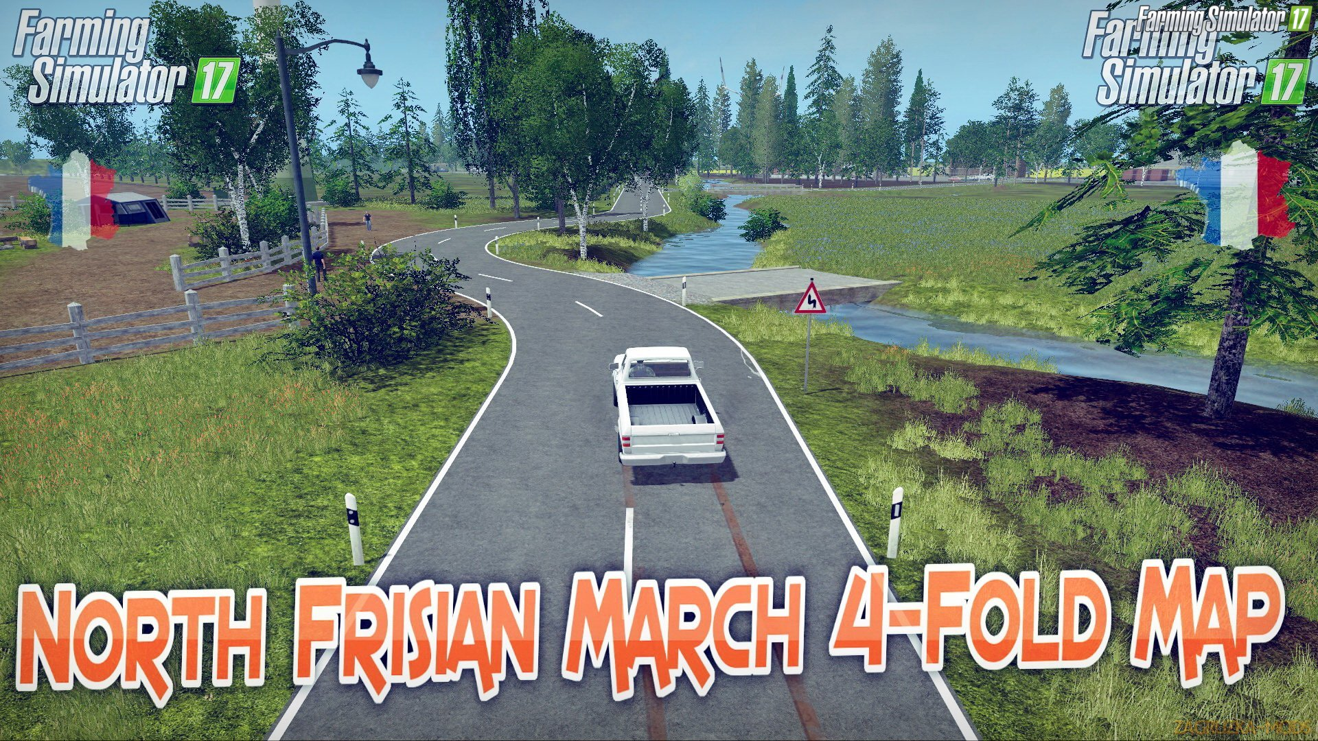 North Frisian March 4-Fold Map v1.8 for FS 17