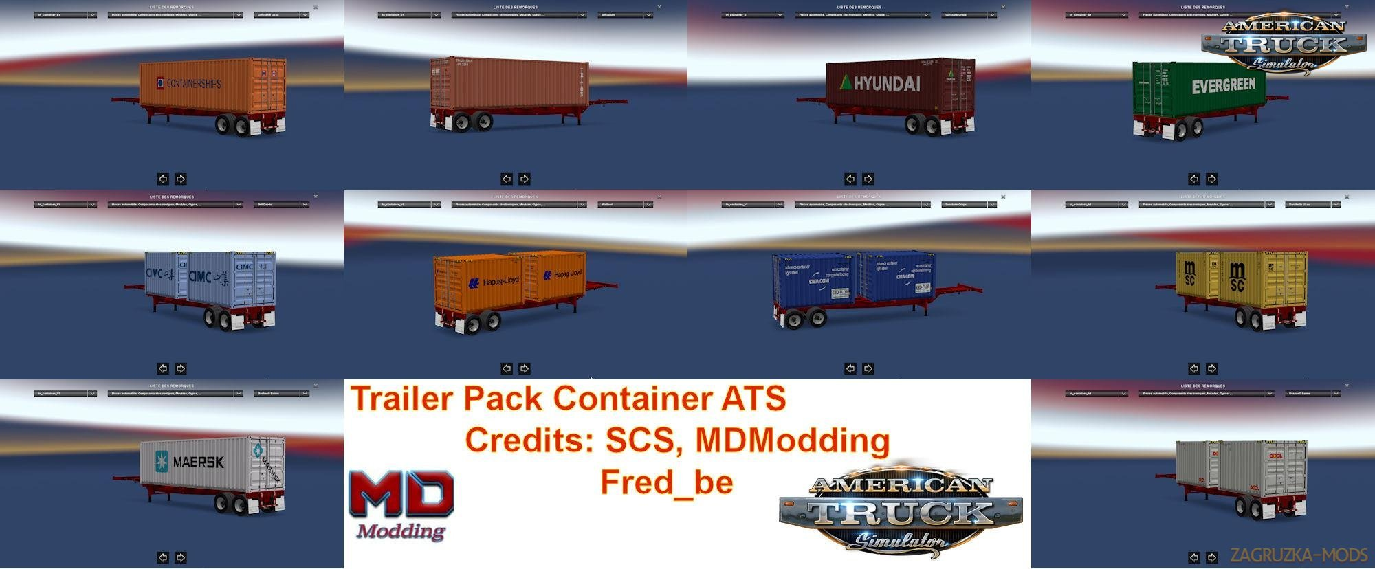 Trailer Pack Container v1 29 for Ats » Simulator Mods | ETS2