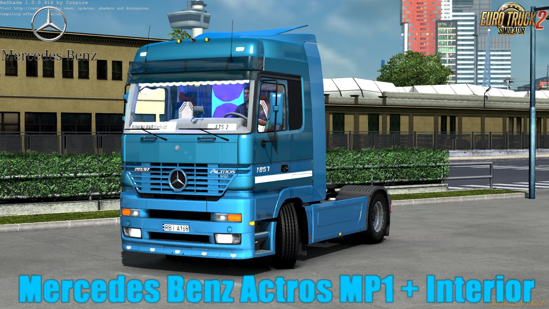 Mercedes Benz Actros MP1 v1.0 (Update by KrewlexDesings) (1.30.x) for ETS 2