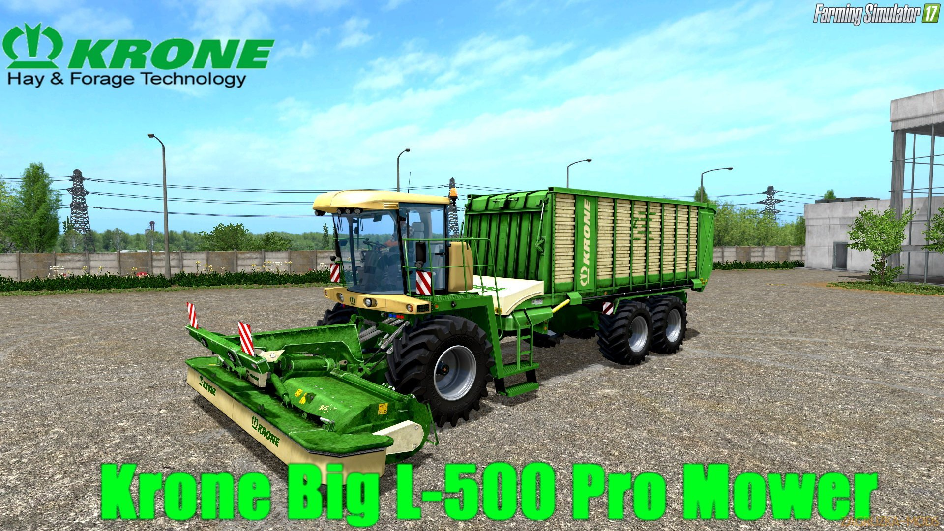 Krone Big L-500 Pro Mower v1.0 for FS 17