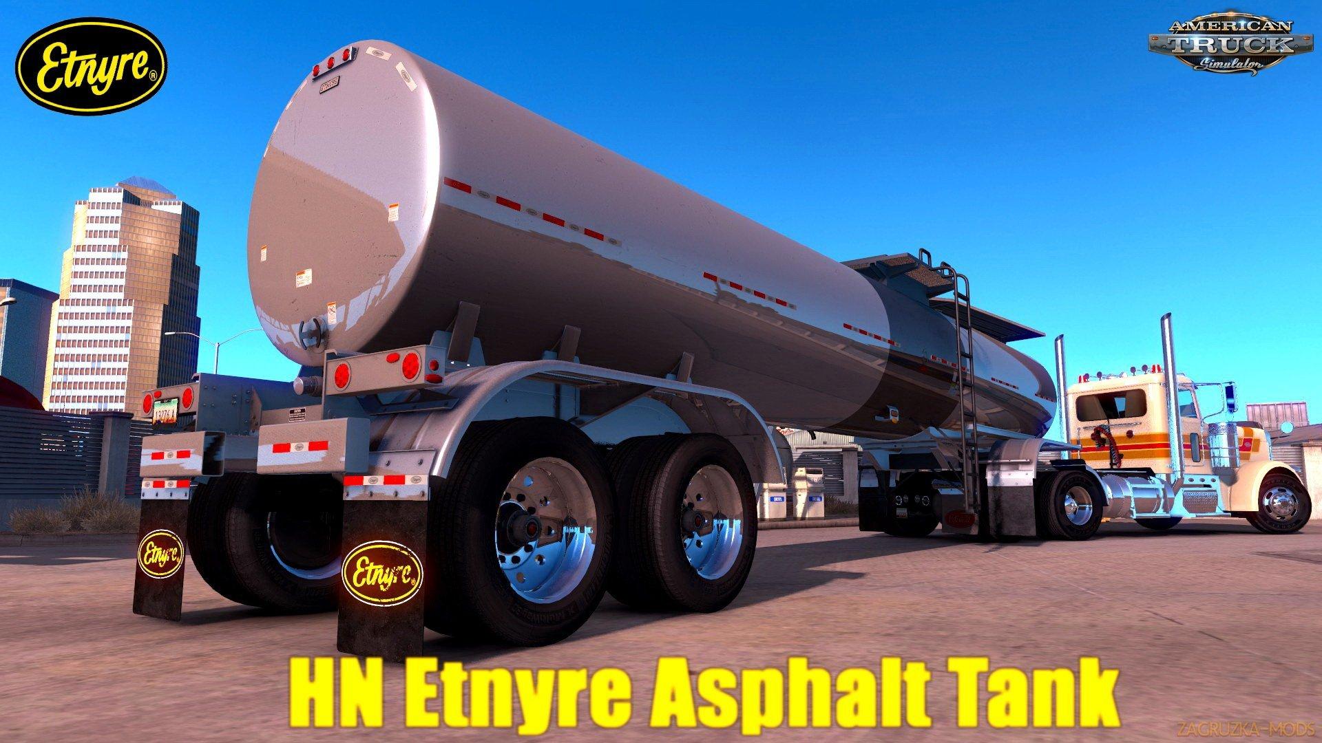 Trailer Etnyre Asphalt Tanker Ownable v3.0 (1.35.x) for ATS