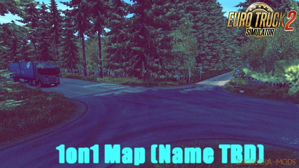 1on1 Map (Name TBD) v1.0 by Humbby (1.30.x) for ETS 2