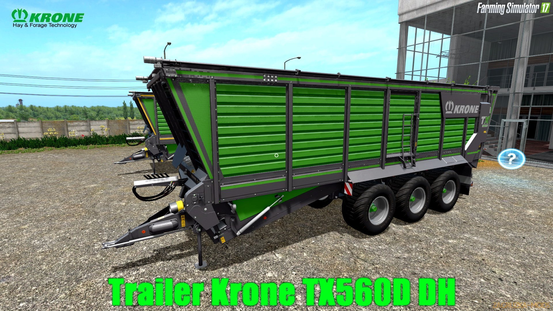 Trailer Krone TX560D DH v1.0 for FS 17