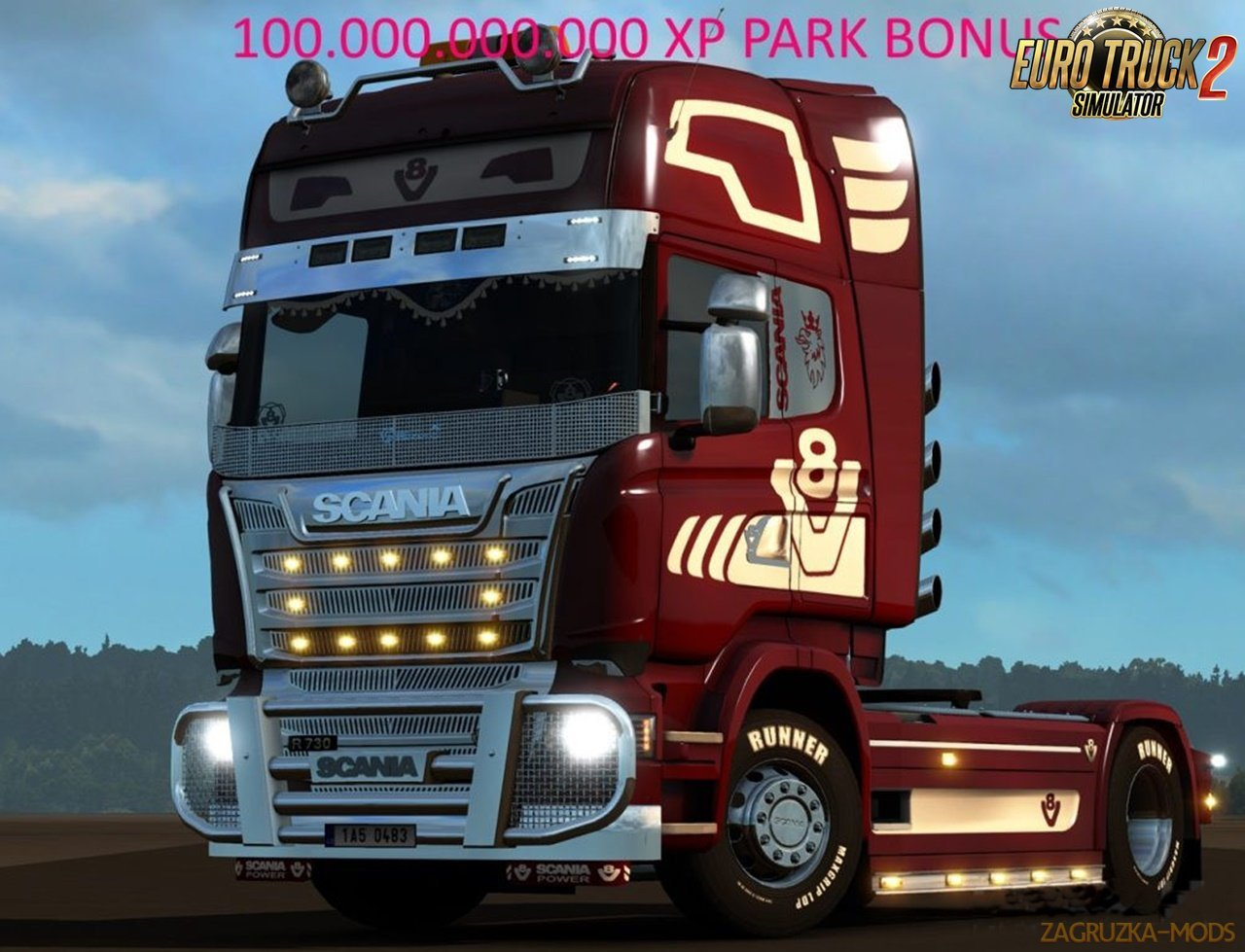 100.000.000.000 XP Park Bonus for Ets2