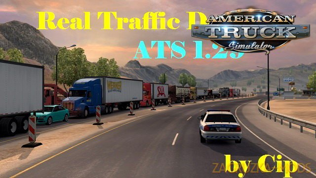 Real Traffic Density and Ratio v1.4 by Cip (1.29.x) for ATS