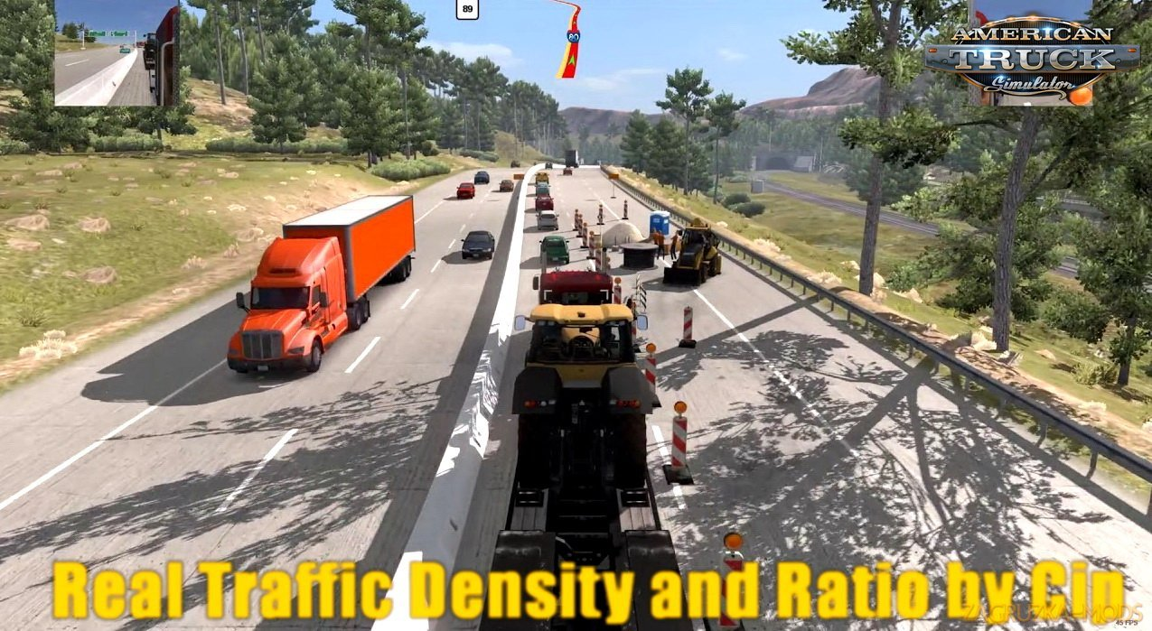Real Traffic Density and Ratio v1.6 by Cip (1.30.x) for ATS