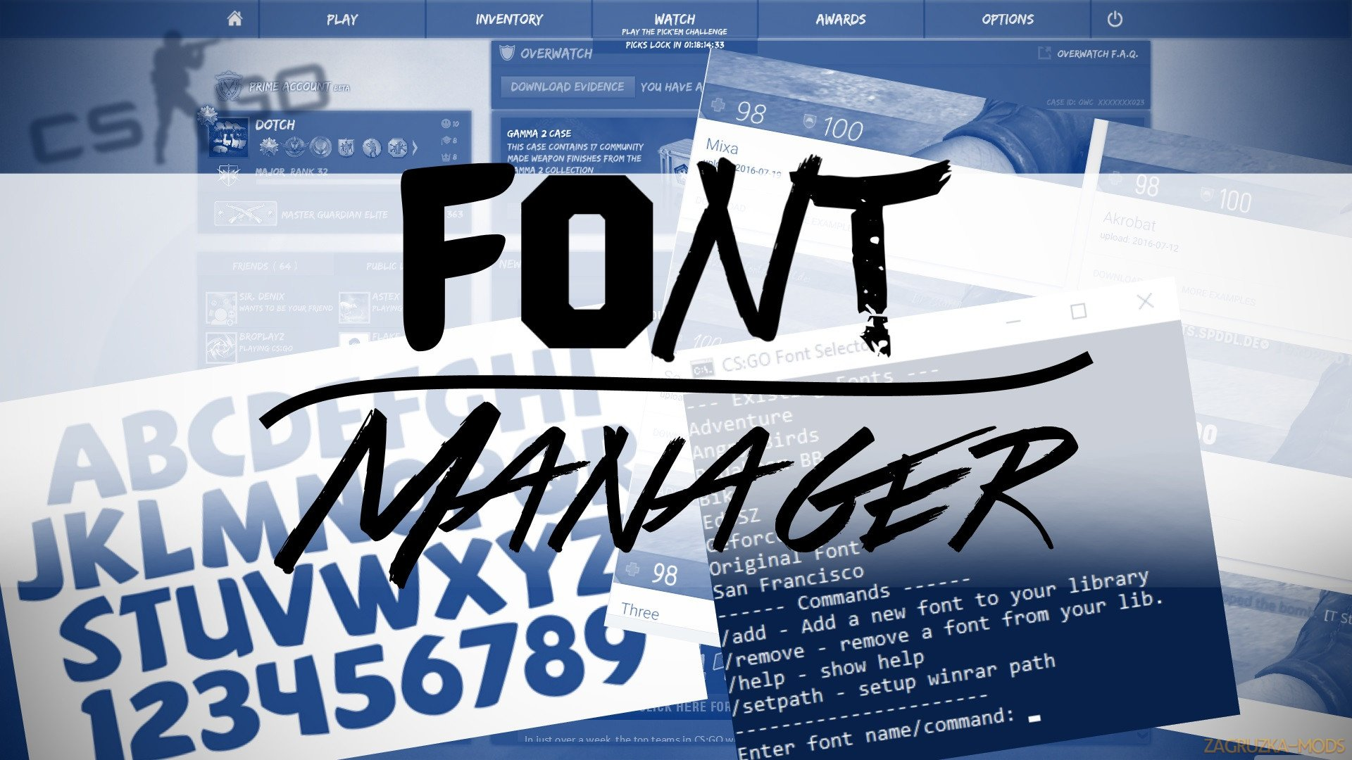 Font Manager v2.0 for CS:GO