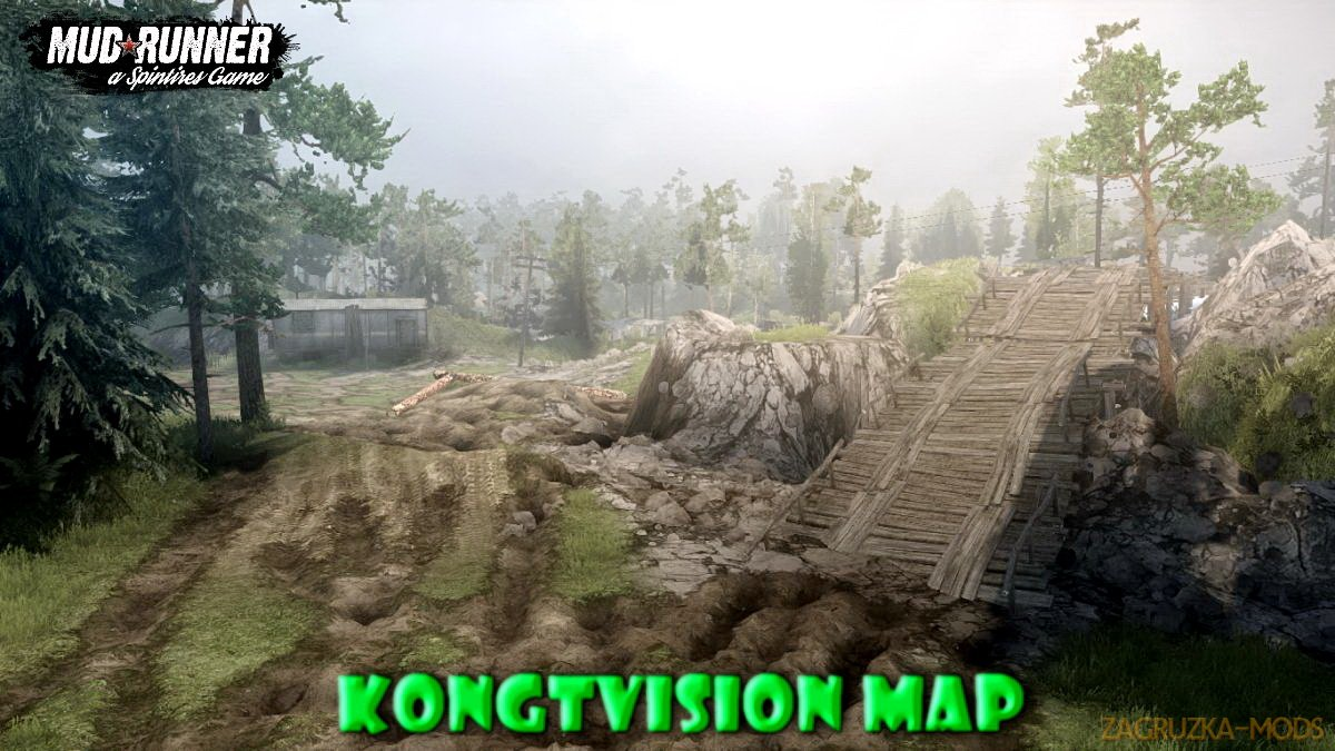 kongTvision Map v1.0 (v11.12.17) for Spin Tires: MudRunner
