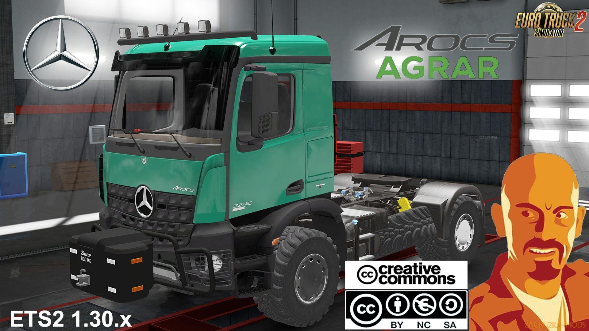 Mercedes Benz Arocs AGRAR v1.0 by CyrusTheVirus (1.31.x) for ETS 2