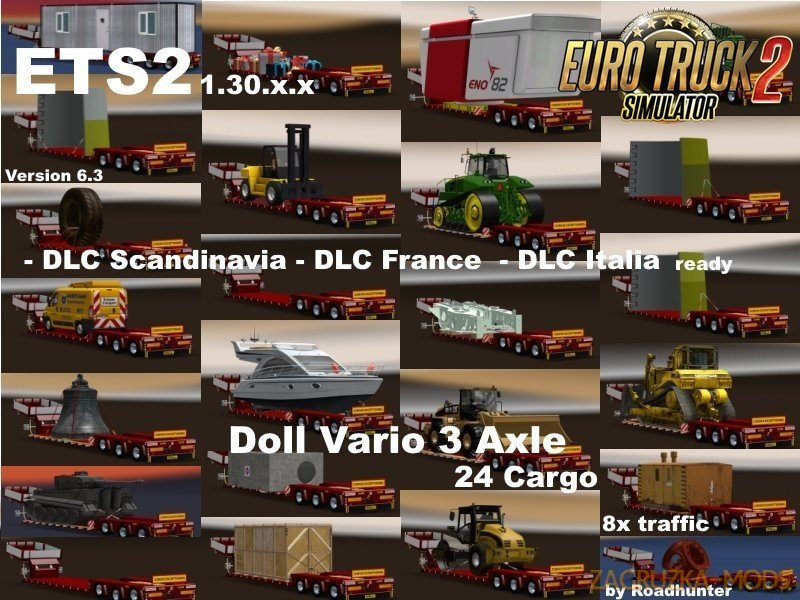 Doll Vario 3Achs with new backlight and in traffic v6.3 by Roadhunter