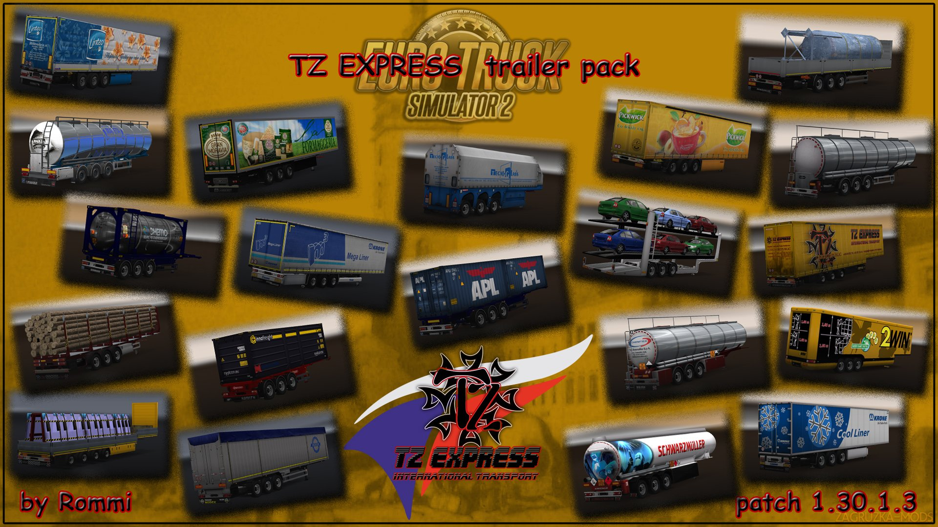 TZ Trailers Pack v1.0 by Rommi TZ (1.30.x) for ETS 2