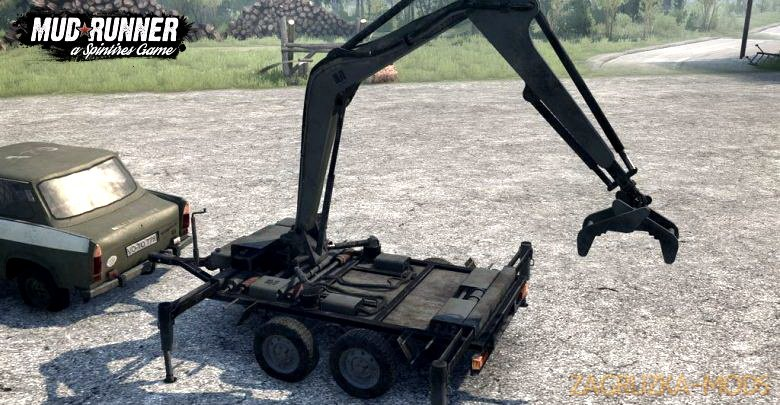 Trailer S Crane v1.0 (v11.12.17) for Spin Tires: MudRunner