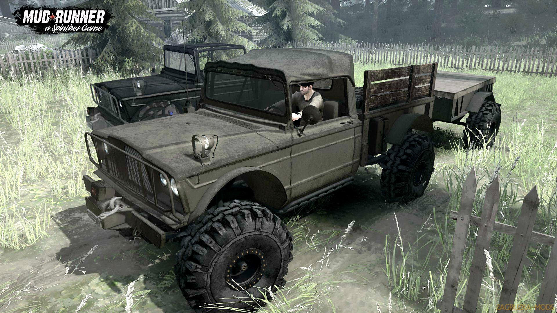 Jeep Kaiser M715 (v11.12.17) for Spin Tires: MudRunner