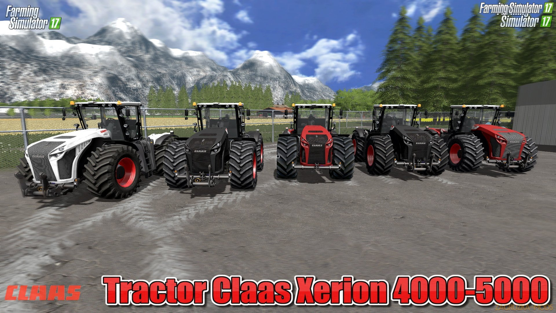 Claas Xerion 4000-5000 (3rd generation) v6.0 for FS 17