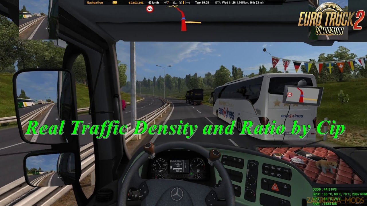 Real Traffic Density and Ratio 1.30.e by Cip (1.30.x)