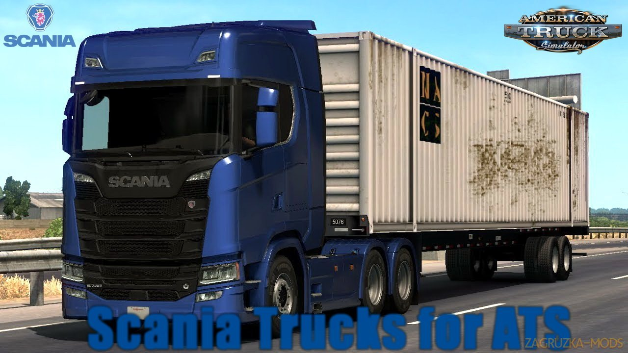 Scania Trucks for ATS v1.5 (1.30.x) for ATS