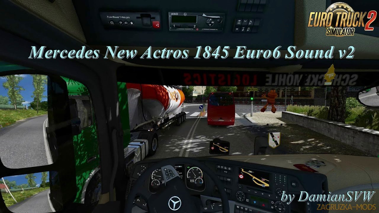 Mercedes New Actros 1845 Euro6 Sound v2 by DamianSVW