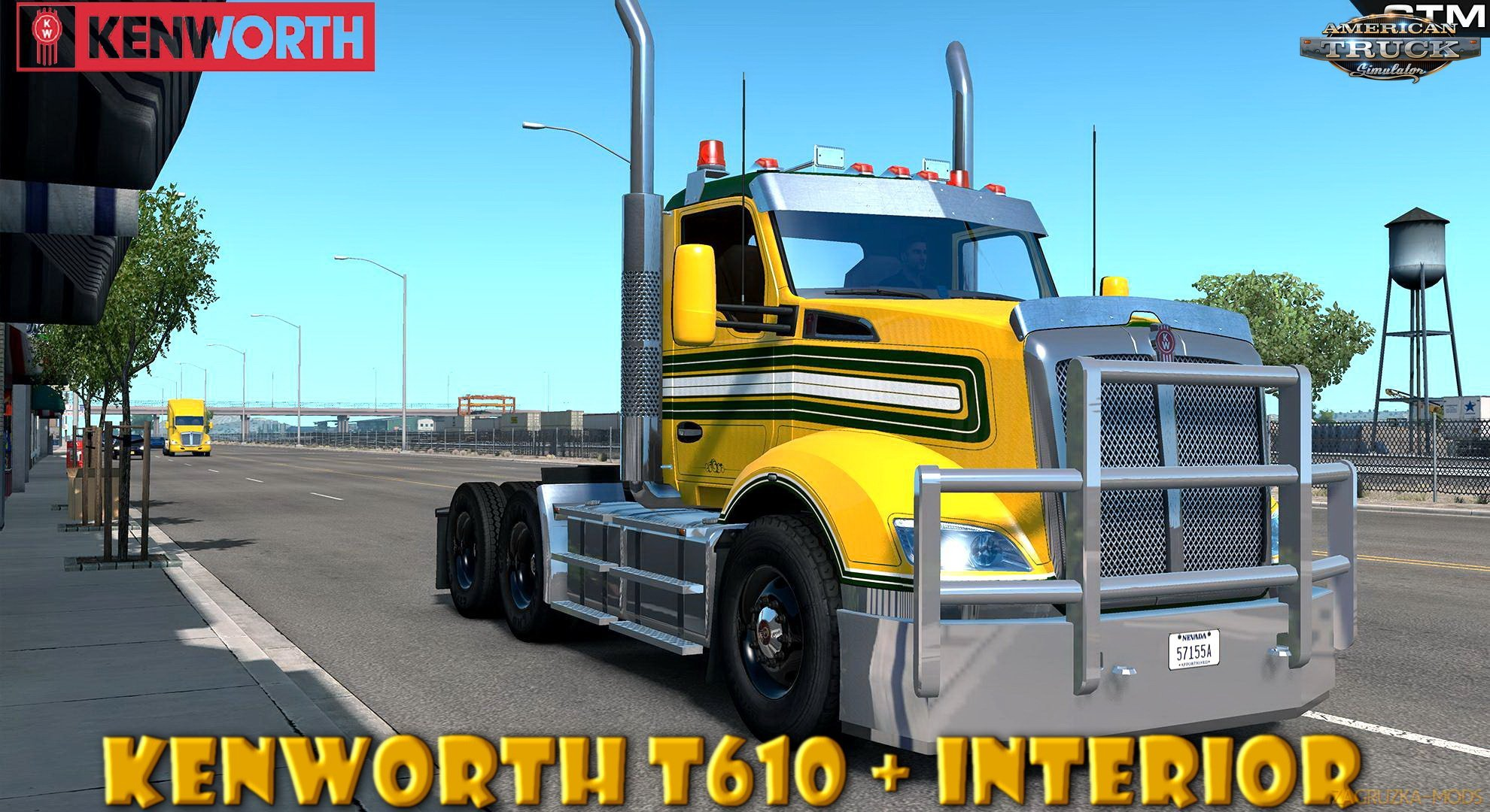 Kenworth T610 + Interior v1.0 by GTM Team (1.37.x) for ATS