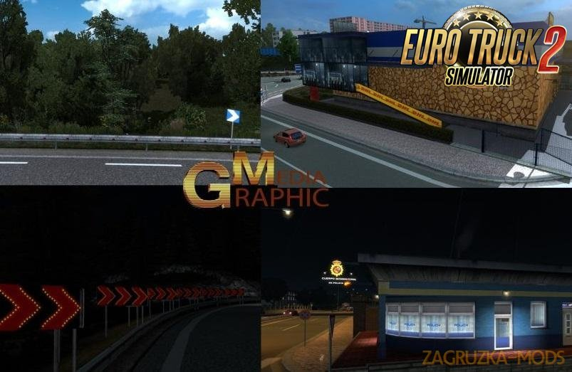 New Graphic Textures of Real Roads and Vegetation v1.0 (1.30.x) for ETS 2
