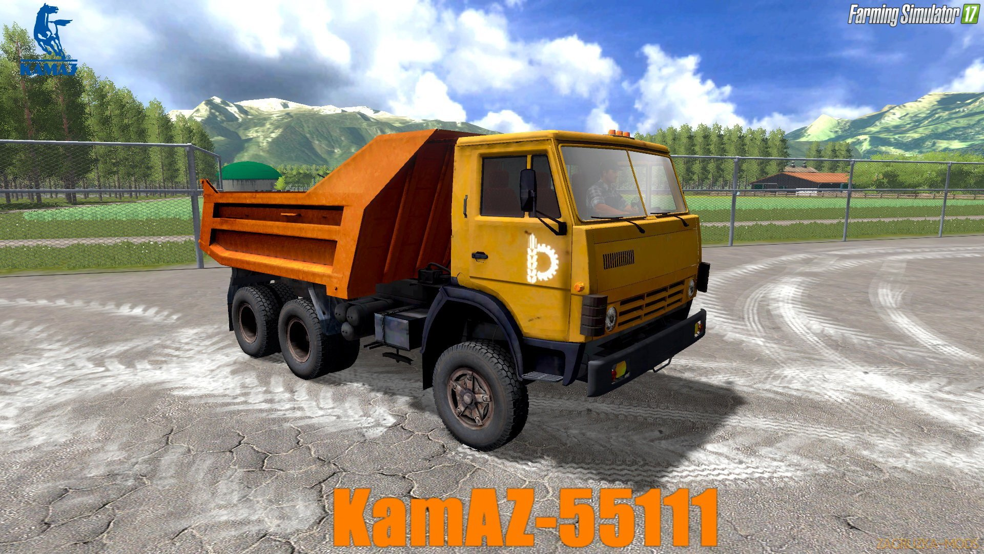 KamAZ-55111 Tipper Truck v1.0 for FS 17