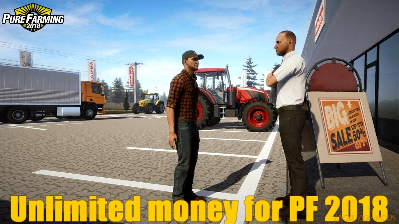 Unlimited money v1.0 for Pure Farming 2018