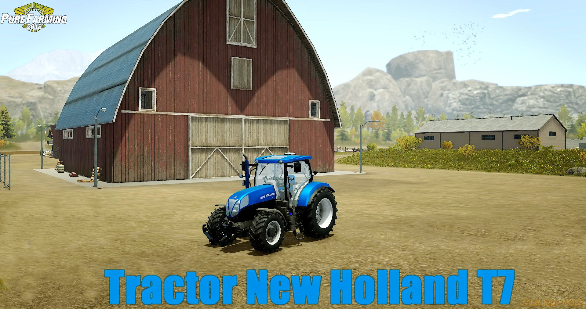Tractor New Holland T7 v1.0 for Pure Farming 2018