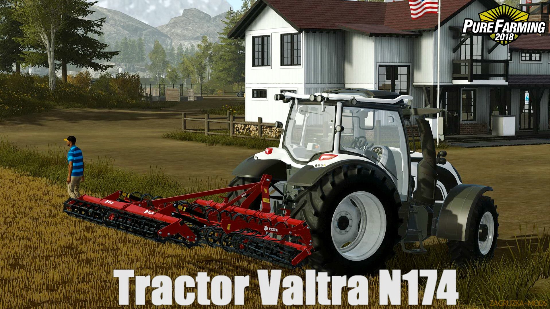 Tractor Valtra N174 v1.0 for Pure Farming 2018