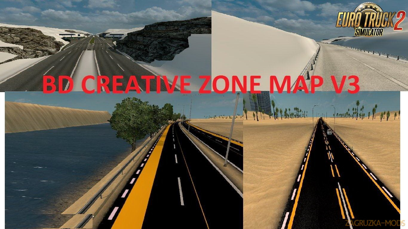 BD Creative Zone Map v3.0 (1.30.x) for ETS 2