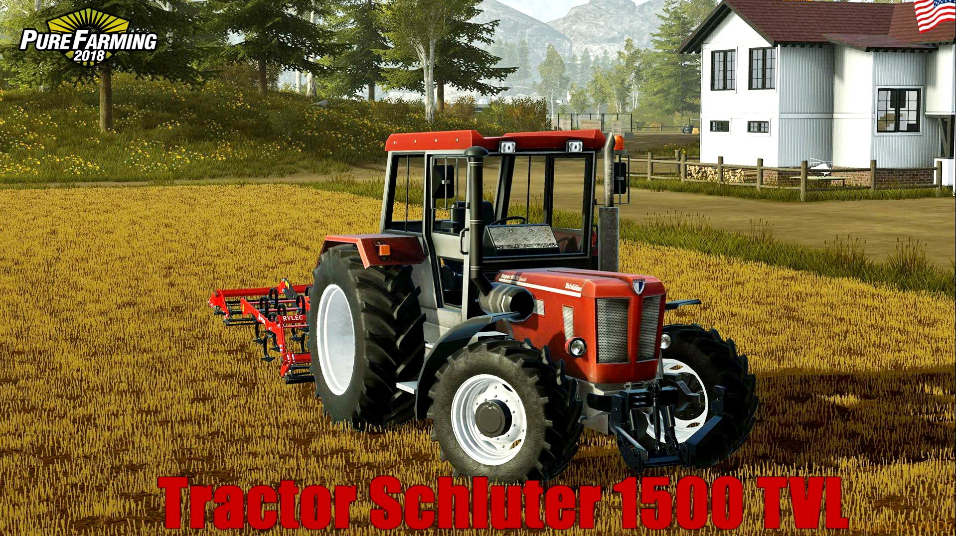 Tractor Schluter 1500 TVL v1.0 for Pure Farming 2018