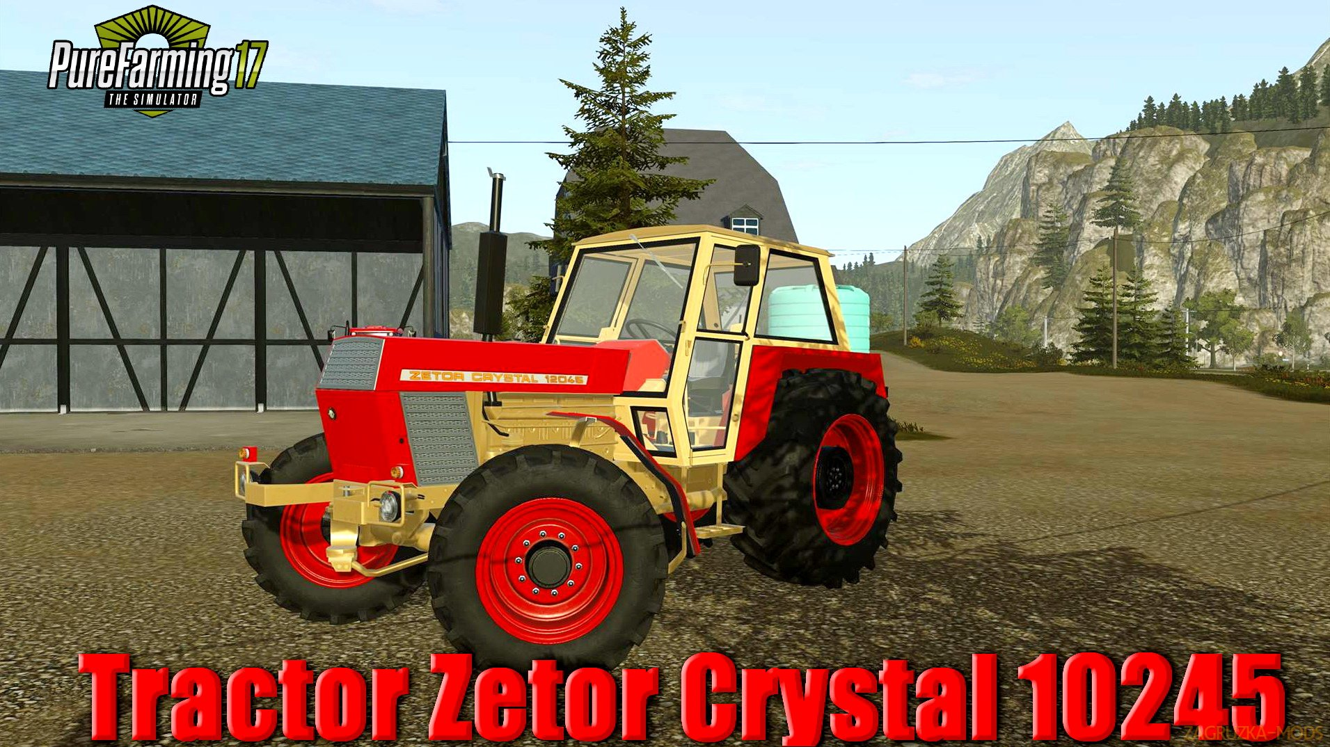 Tractor Zetor Crystal 10245 v1.0 for Pure Farming 2018