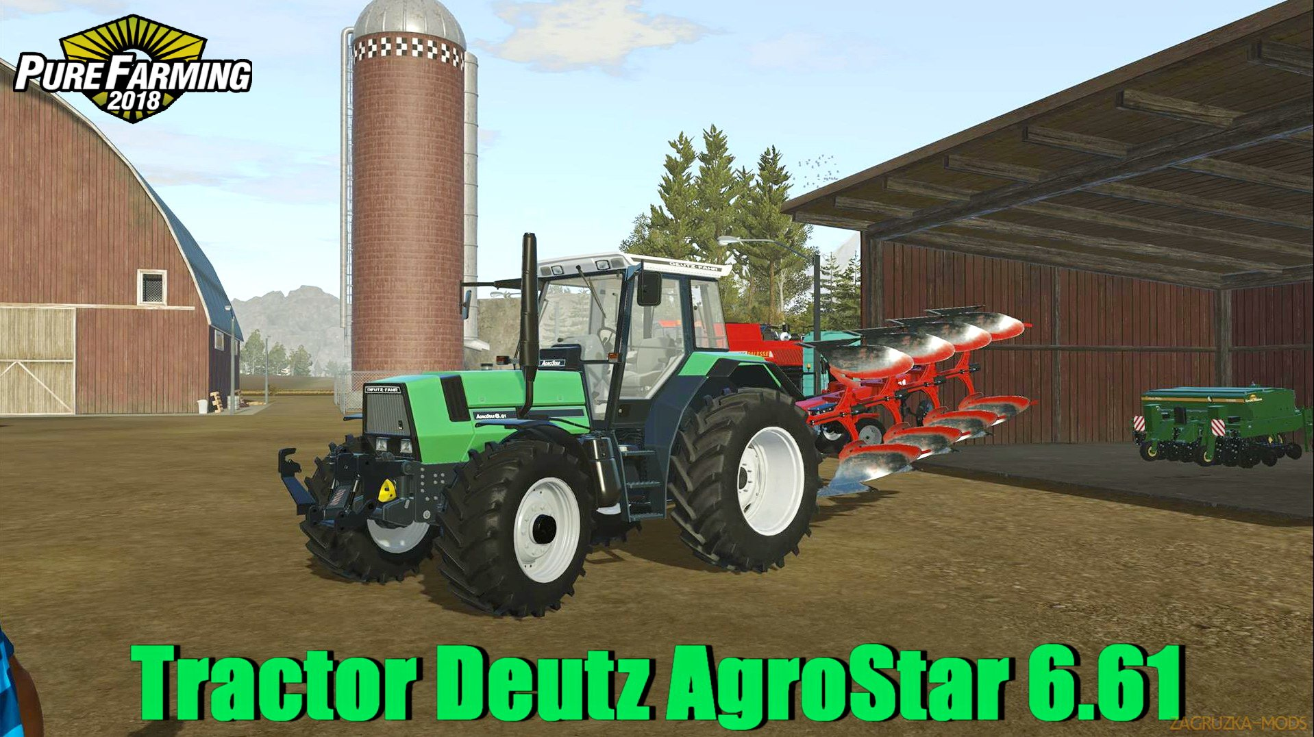 Tractor Deutz AgroStar 6.61 v1.0 for Pure Farming 2018