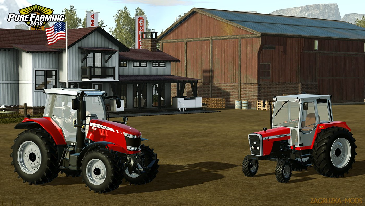 Tractor Massey Ferguson 6616 v1.0 for Pure Farming 2018