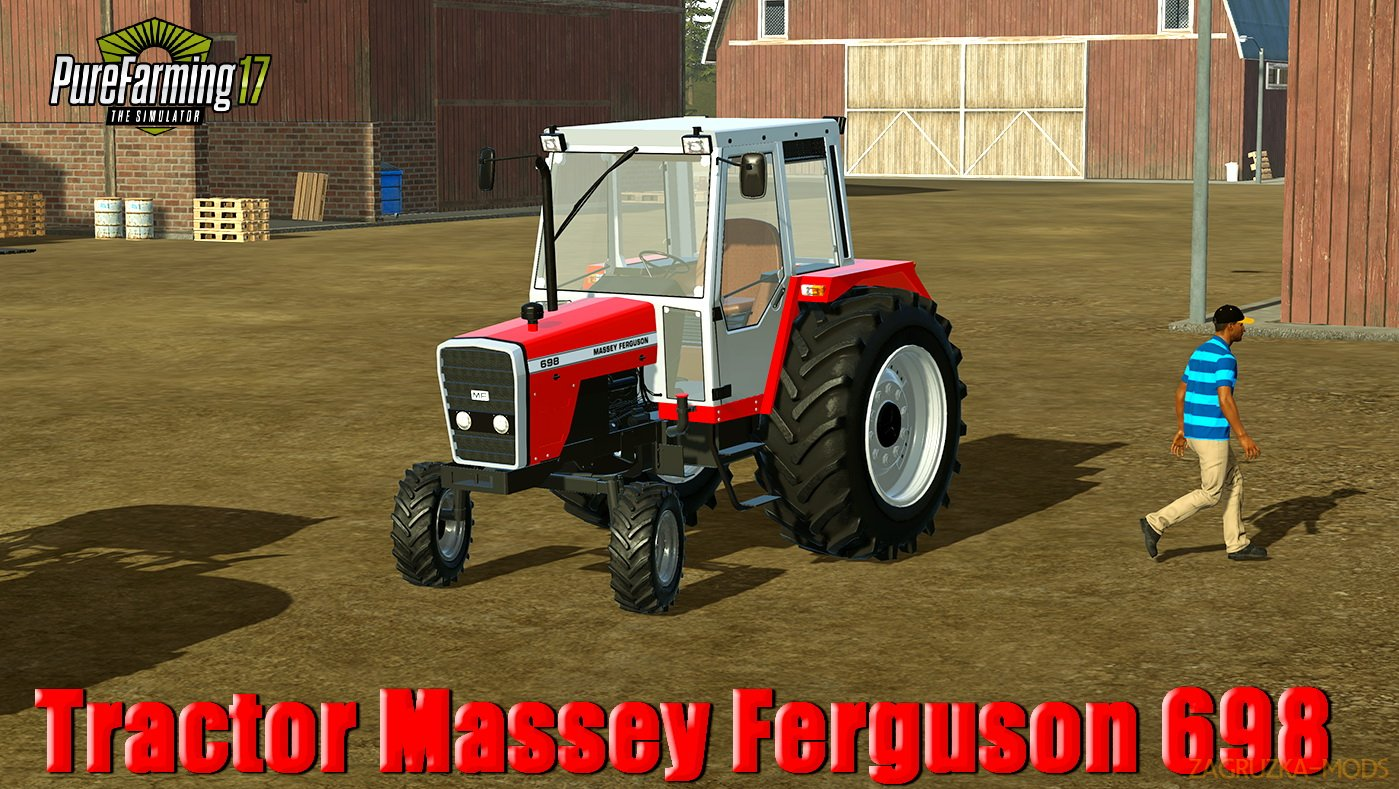 Tractor Massey Ferguson 698 v1.0 for Pure Farming 2018
