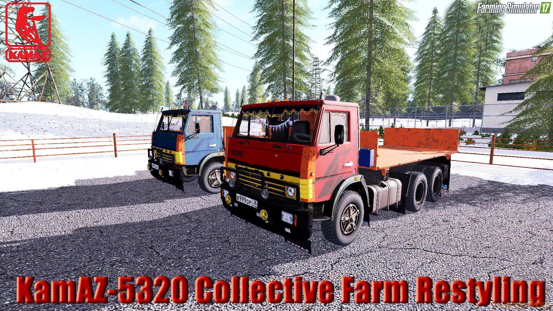 KamAZ-5320 Collective Farm Restyling v1.2.1 for FS 17