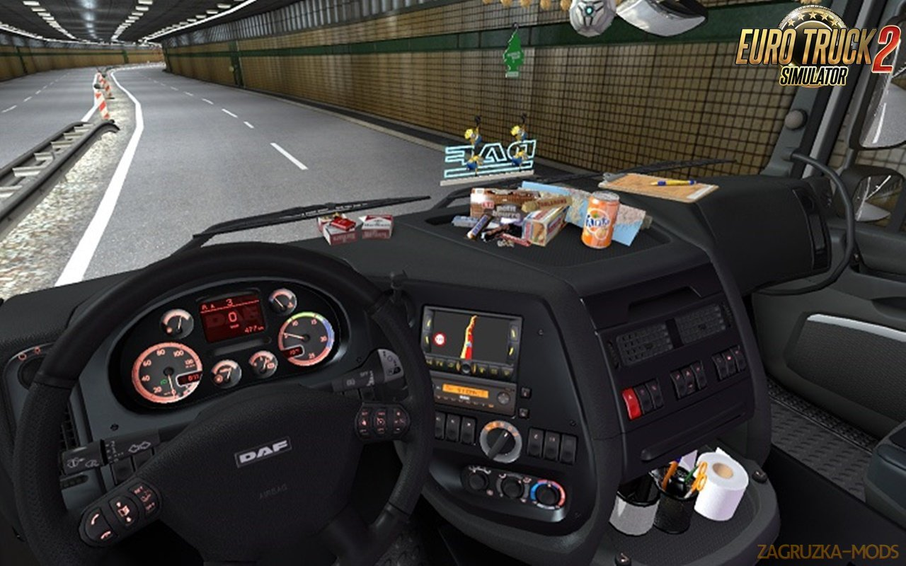 DAF XF 105 interior+sound+dashboard by Piva