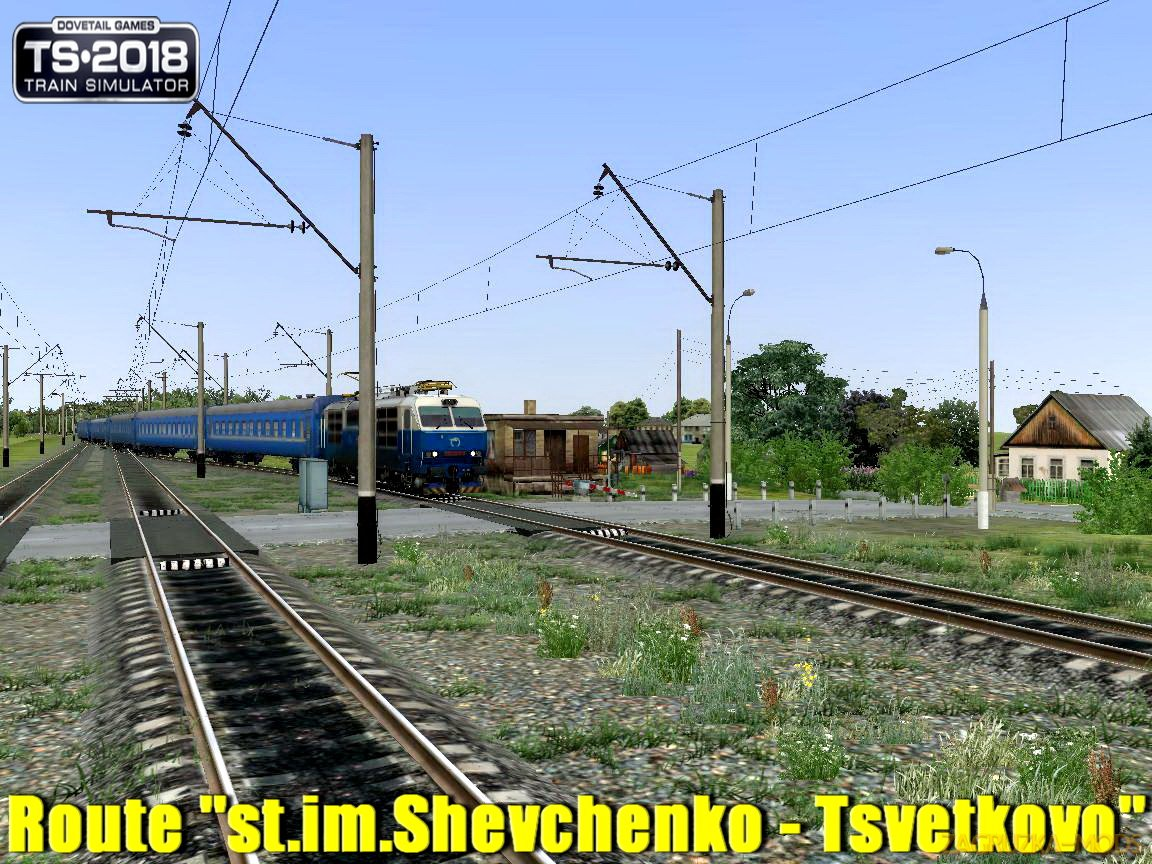 "Patch for Route ""st.im.Shevchenko - Tsvetkovo"" (ст.им.Шевченко - Цветково) v2.0 for TS 2018"