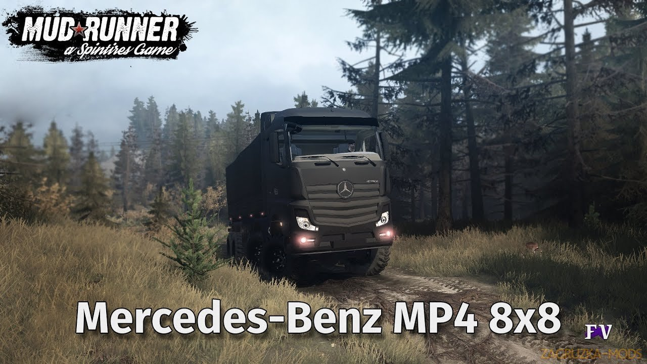 Mercedes-Benz MP4 8x8 v3.0 (v06.03.18) for Spin Tires: MudRunner
