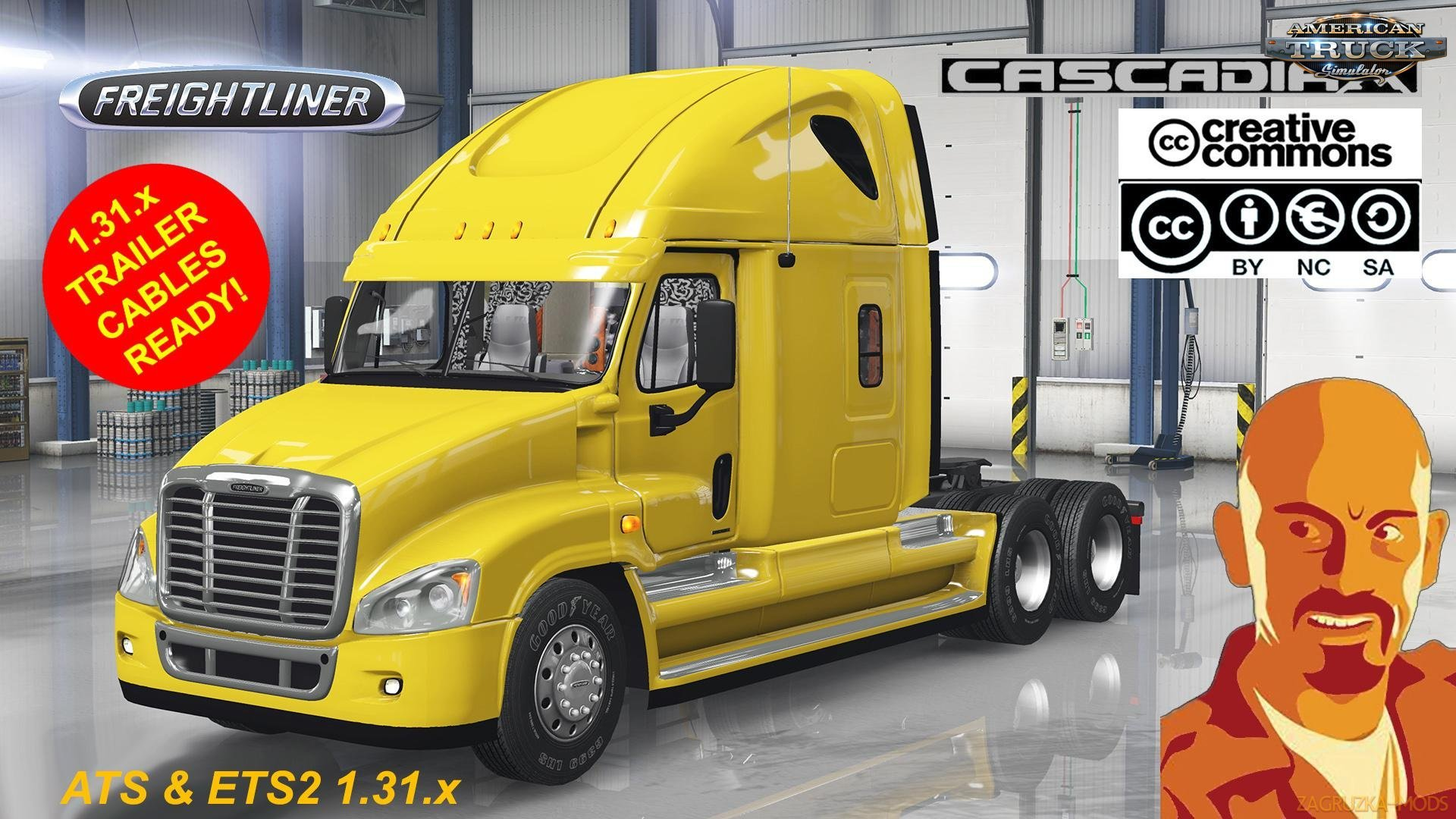 Freightliner Cascadia v1.0 by CyrusTheVirus (1.31.x) for ATS