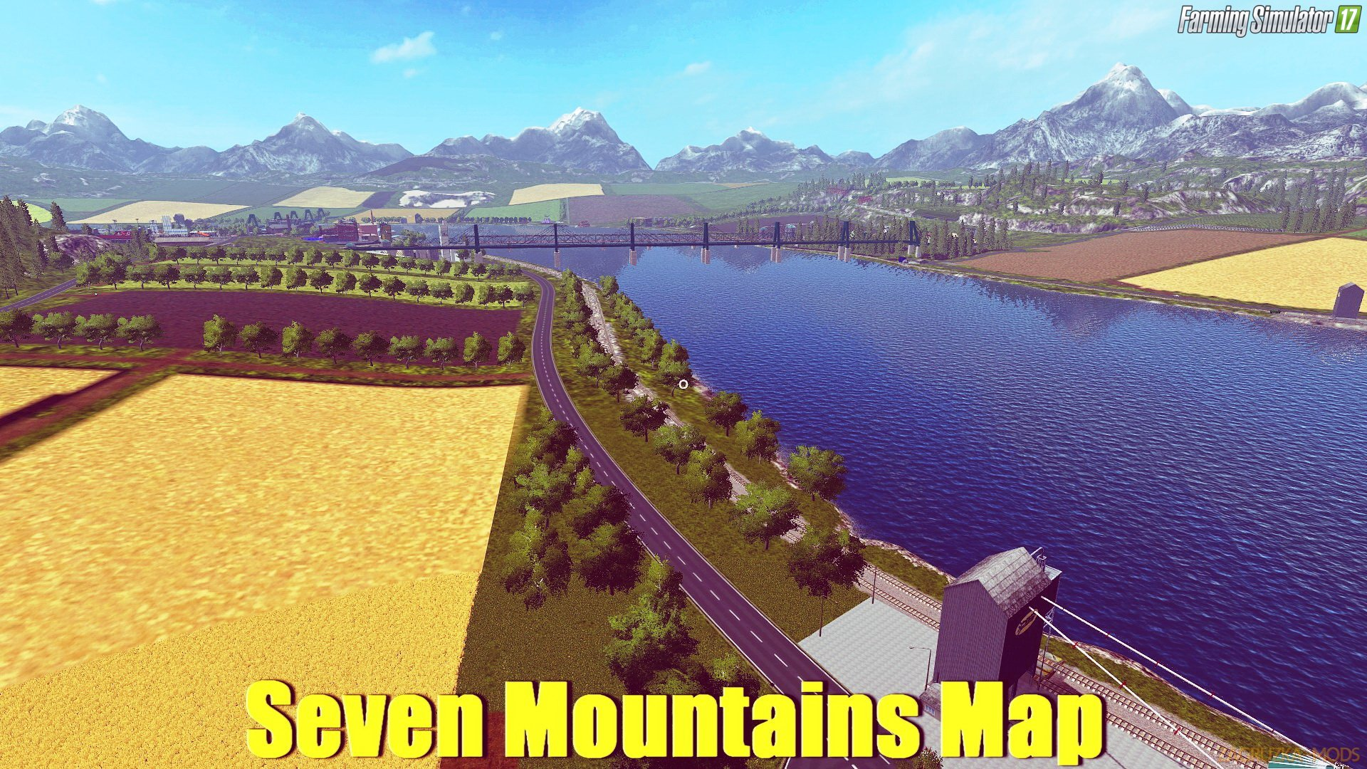 Seven Mountains Map v1.0.2 for FS 17