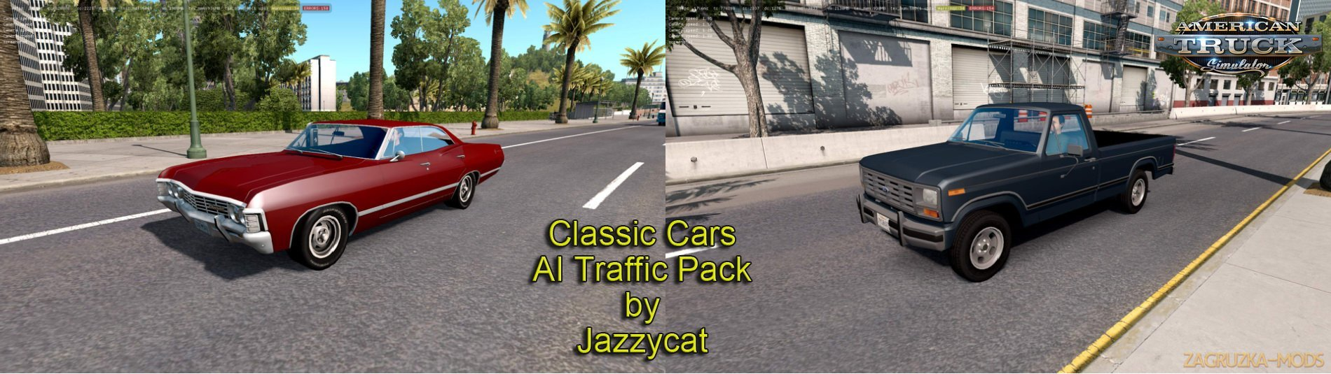 Classic cars AI Traffic Pack v1.7 by Jazzycat