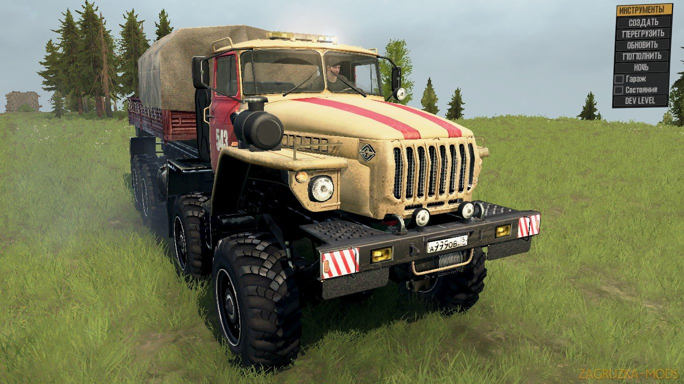 Ural-6614 v1.0 (v06.03.18) for Spin Tires: MudRunner