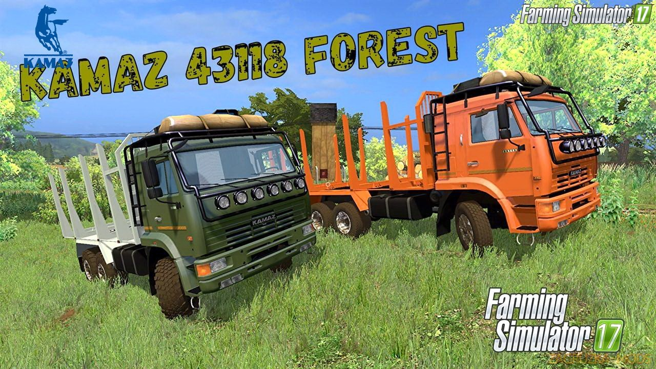 KamAZ 44118 Forest + Trailer v1.0 for FS 17