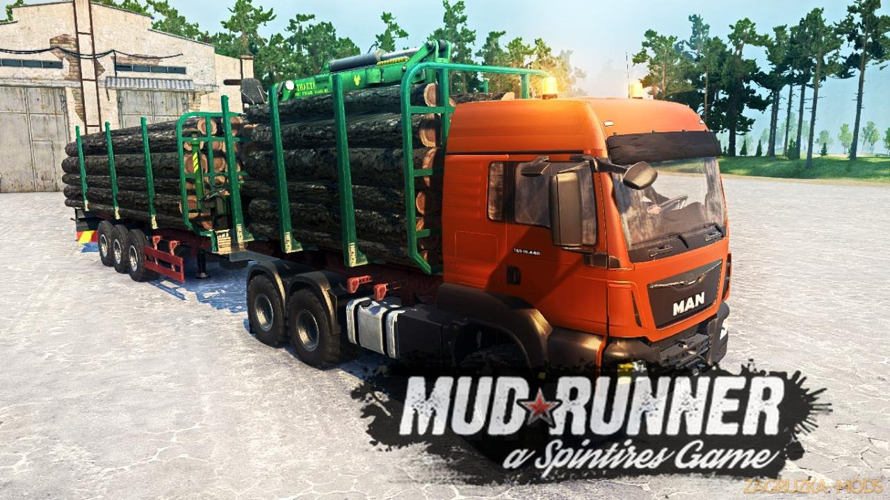 MAN TGS v3.0 (v06.03.18) for Spin Tires: MudRunner