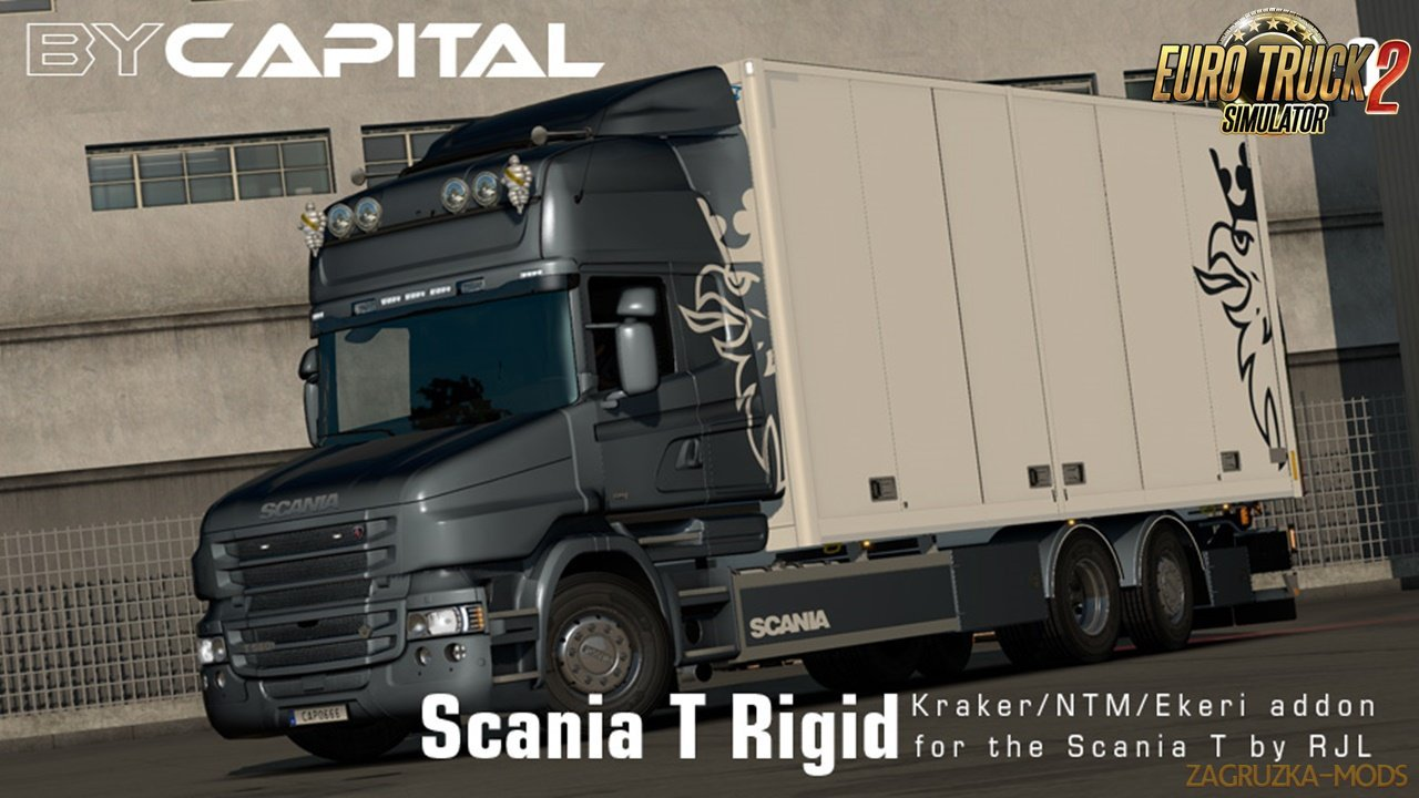 Rigid chassis for RJL Scania T & T4 (Kraker/NTM/Ekeri) v3.0 - ByCapital