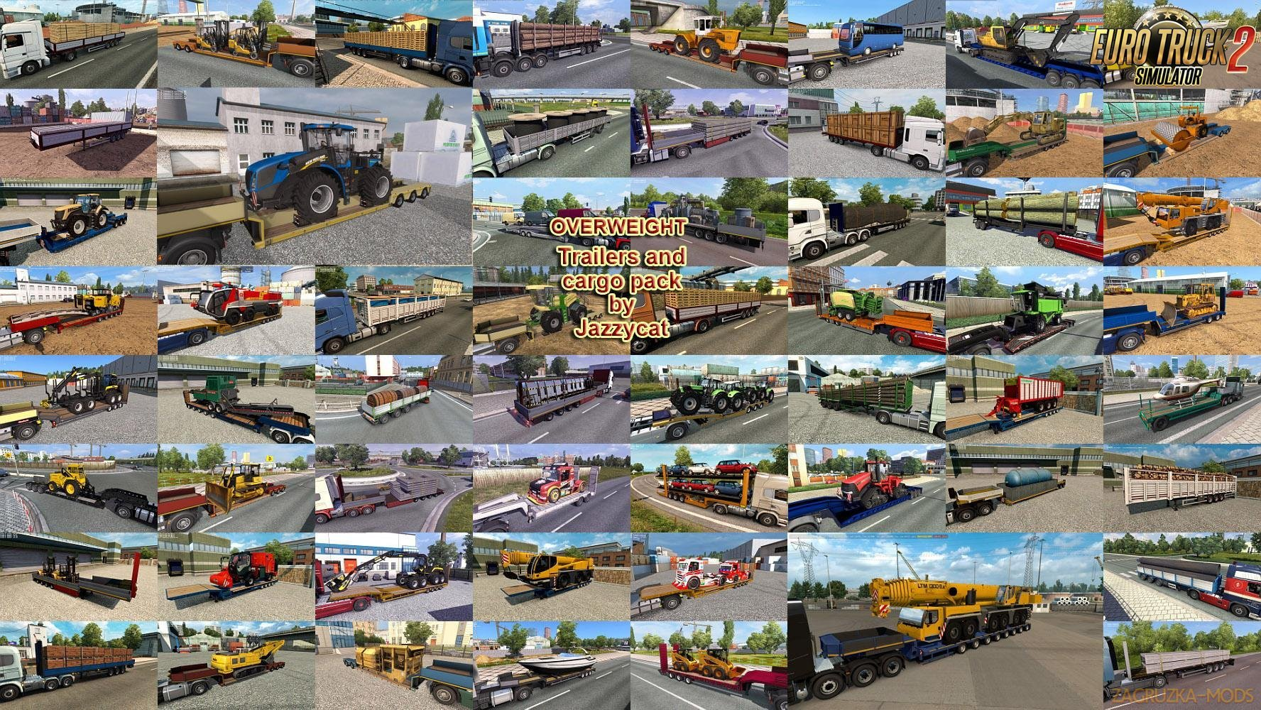 Overweight Trailers and Cargo Pack v7.3 by Jazzycat